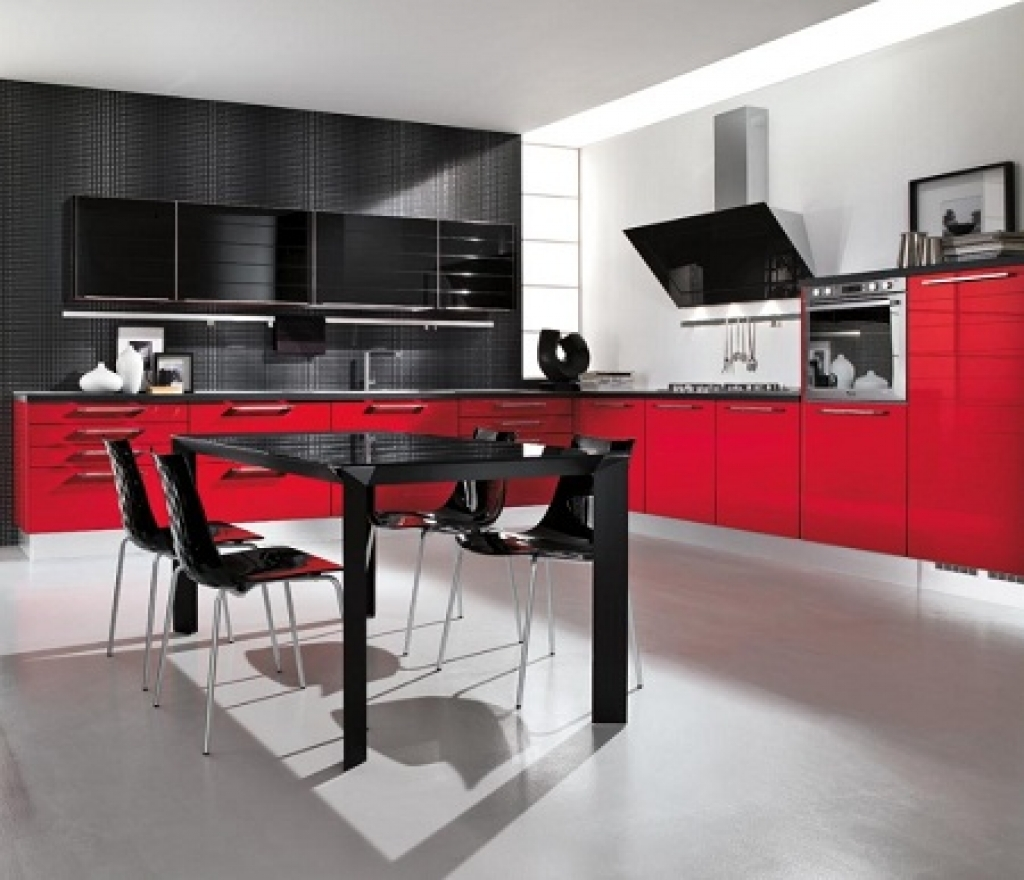 9 Marvelous Red Kitchen Designs for Real Lovers with Images ...